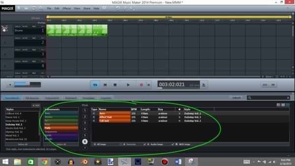 A continuación hay que añadir un cojín, esto hará que el sonido canción más armónico.